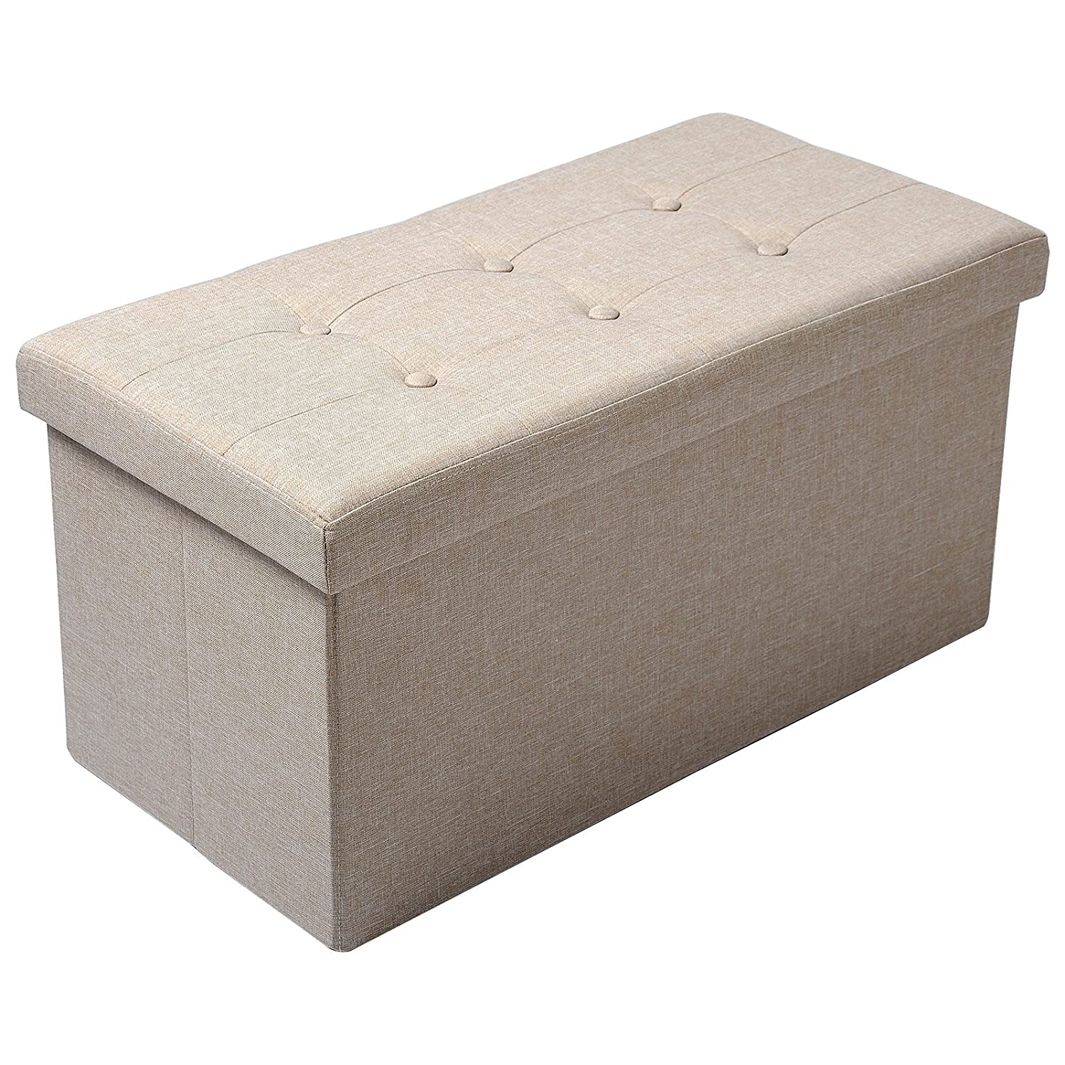 Ottomans Lucia Storage Chest Grey Fabric: 1 Seater Luxury Crushed Velvet Fabric With Diamantes