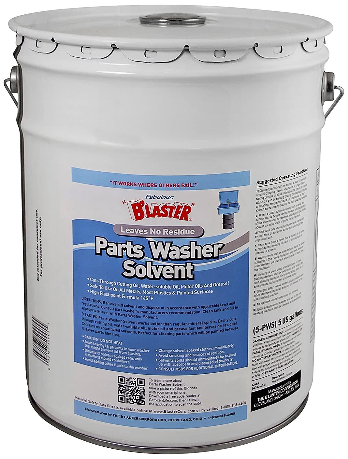 B'laster - 5-PWS - Parts Wash Solvent - 5-Gallon