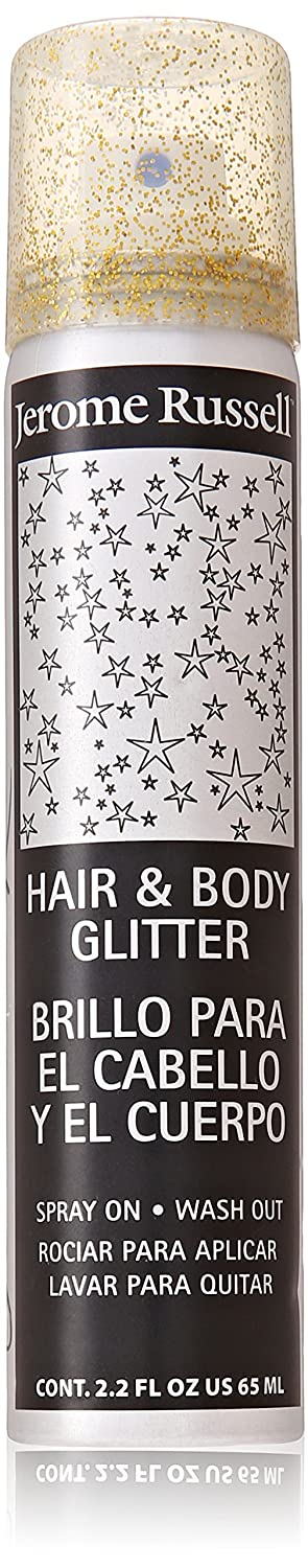 Jerome Russell Hair and Body Glitter Spray Gold