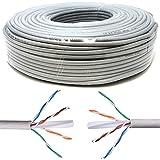 Mr. Tronic 100 Metros Cable de Instalación Red Ethernet Bobina 100m | CAT6, AWG24, CCA, UTP | Color Gris