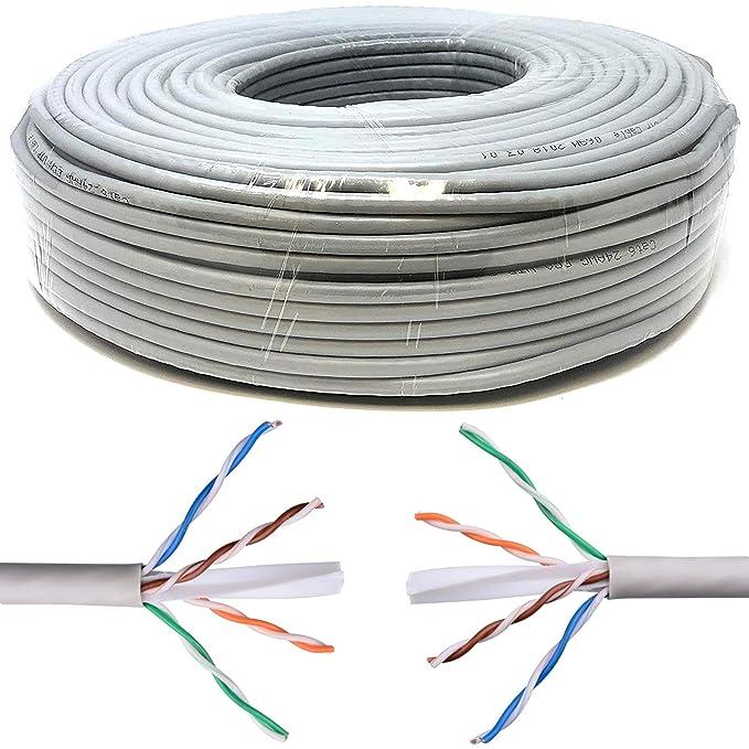 67 opinioni per Mr. Tronic 200m Cavo di Rete Ethernet | CAT6, AWG24, CCA, UTP, RJ45 | Bobina di