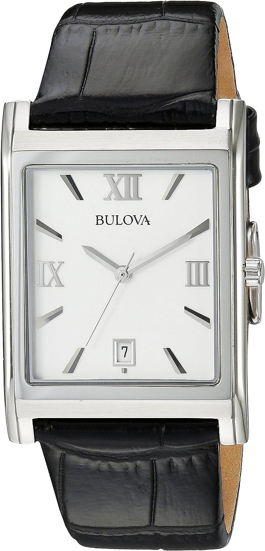 Bulova Men s 96B107 Strap Silver Dial Watch