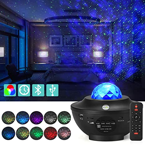 ReFaney proyector de estrellas LED, luz nocturna de estrellas para ...