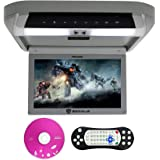 Rockville RVD10HD-GR Flip Down Monitor DVD Player, HDMI, USB, Games, LED, 10.1