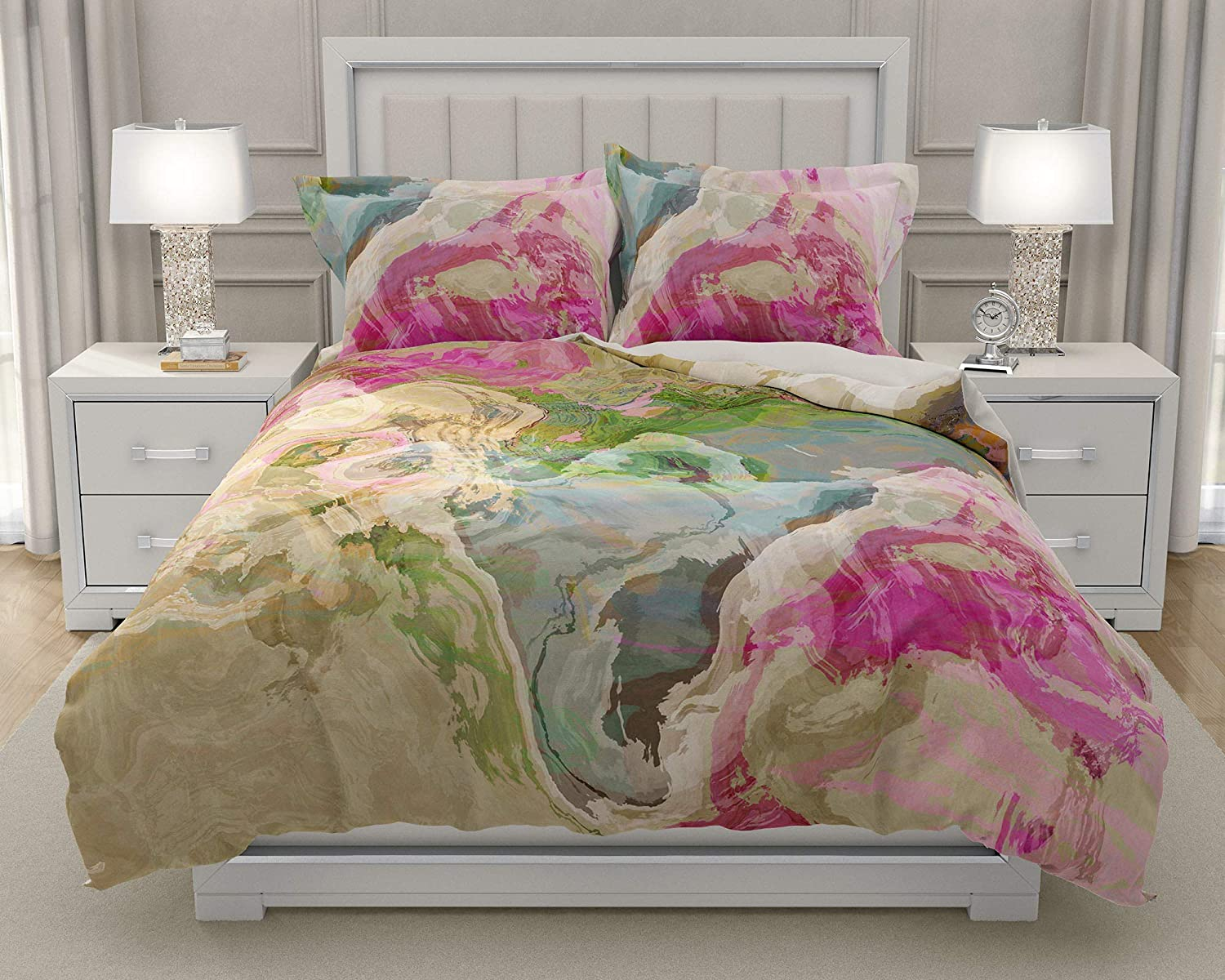 Image of Home and Kitchen King or Queen 3 pc Duvet Cover Set with abstract art, Dream