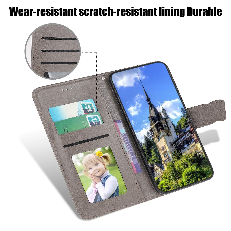 Handyh/ülle Leder Tasche Hancda H/ülle f/ür iPhone 11 Pro Schutzh/ülle Flip Case H/ülle Magnet Brieftasche Klapph/ülle Handytasche Lederh/ülle f/ür iPhone 11 Pro,Blau Nicht f/ür iPhone 11