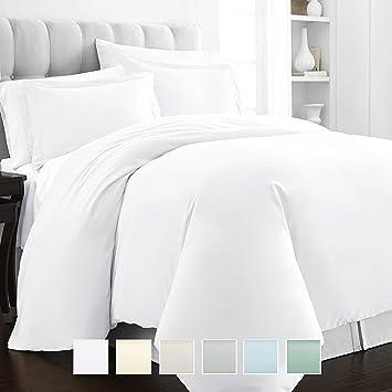 Amazon Com Pizuna 400 Thread Count White King Duvet Cover 100 Long