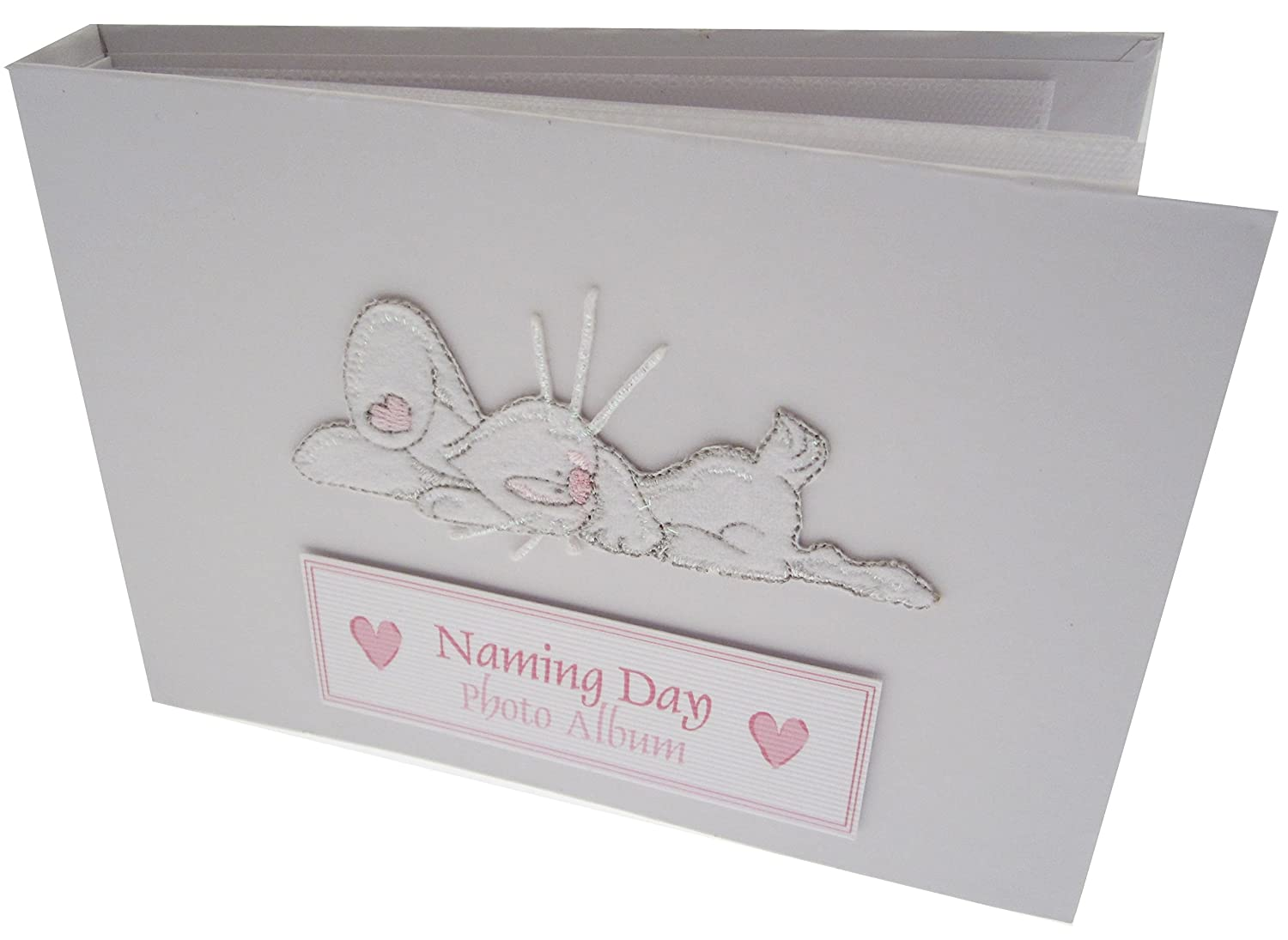 white cotton cards Value Range Naming Day Tiny Value Album (Laying Down Bunny Design, Pink) TVNDBP