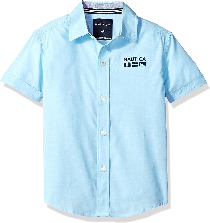 Nautica Niños 75148Q Manga Corta Camisa de Botones: Amazon.es: Ropa y accesorios