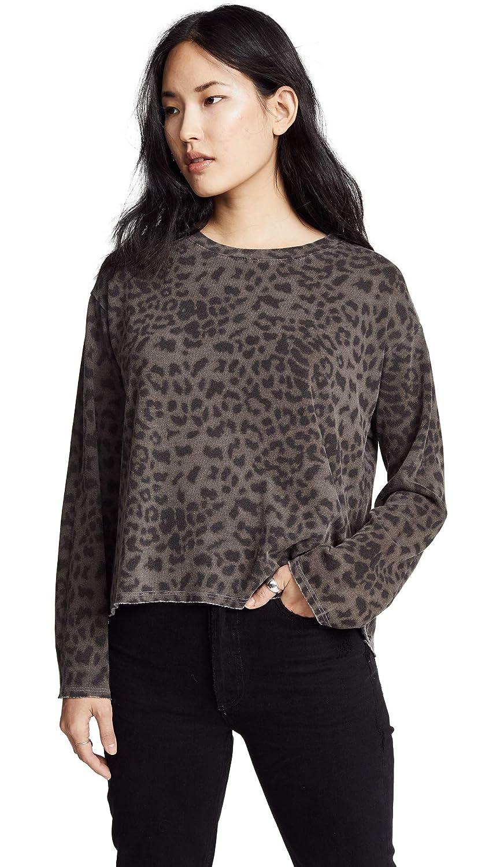 SUNDRY Women's Cheetah Raw Boxy Sweatshirt Pigment Mink 2
