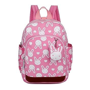 Uworth Mochila Escolar Infantil Guarderia Niña Mochila Para Niños Conejo (Rosa): Amazon.es: Equipaje
