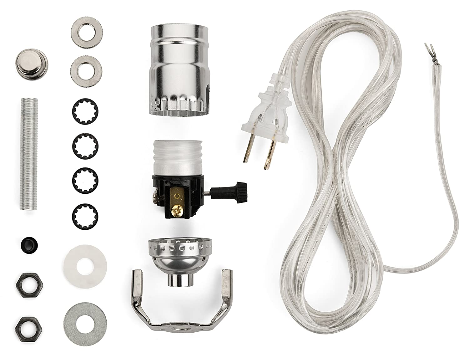 Lamp Wiring Kit Making Kits Allow You To Make Repair And Rewiring A Two Socket Repurpose Lamps Rewire Vintage Or Create Custom Light With Nickel