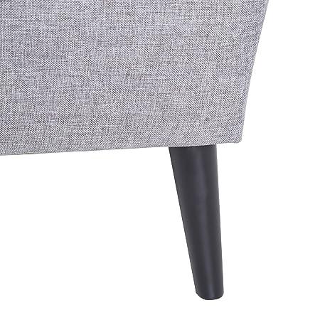 Amazon.com: Oro Sparrow Fontana Accent silla, Tela, Ceniza ...
