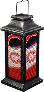 Team Sports America Light Up Solar Garden Lantern for Chicago Bears Fans 4.4 x 10 x 4.4 Inches