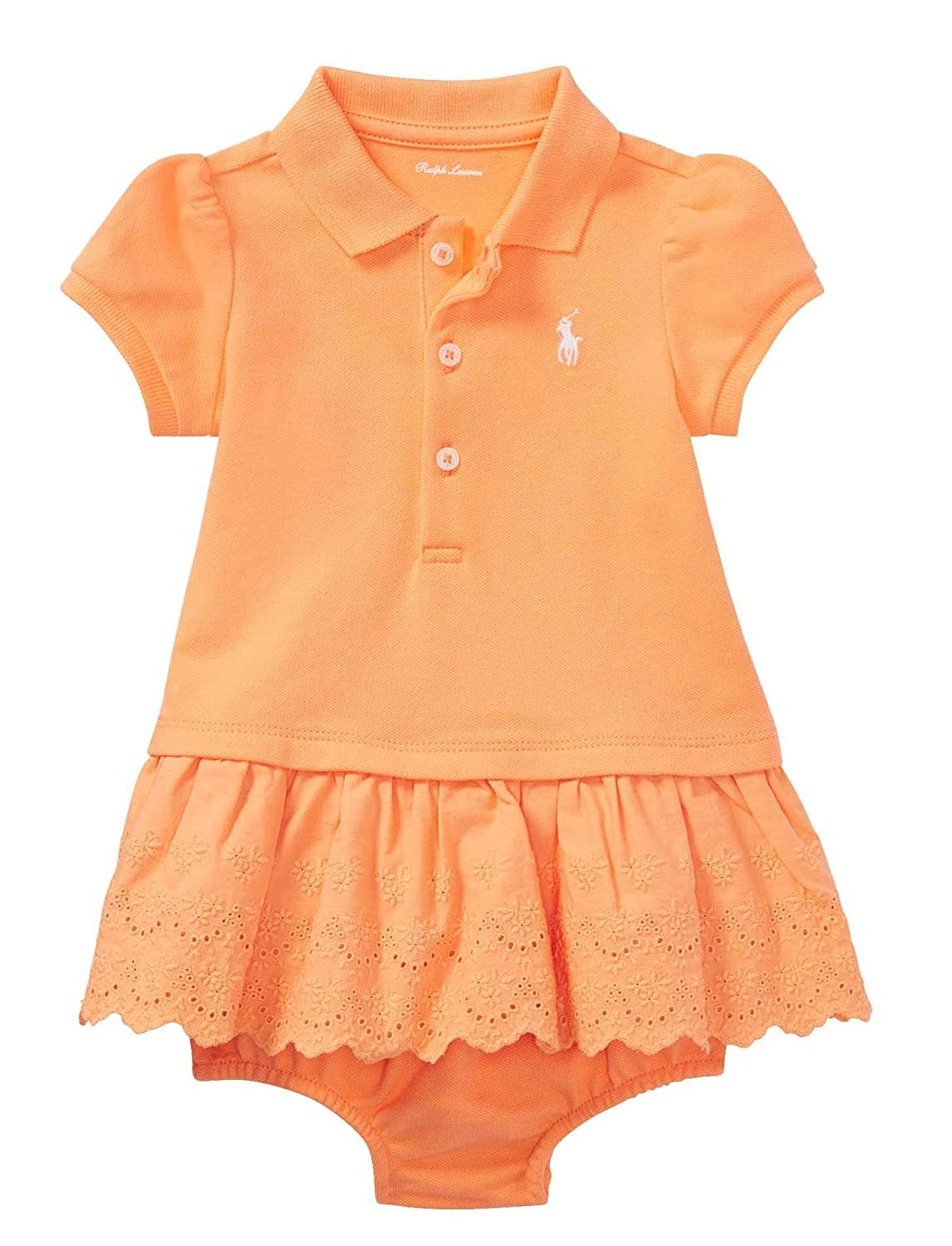 RALPH LAUREN Baby Girls Eyelet Polo Dress & Bloomer