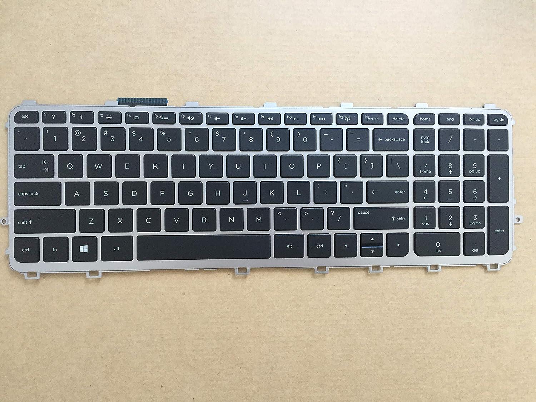 Black Original New for HP Envy 15-j000 15t-j000 17-j000 Backlit Keyboard with Frame V140626A US