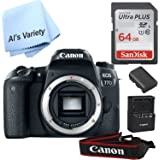 Canon 77D Body (No Lens) with Free SanDisk Ultra 64GB SDHC Class 10 Card