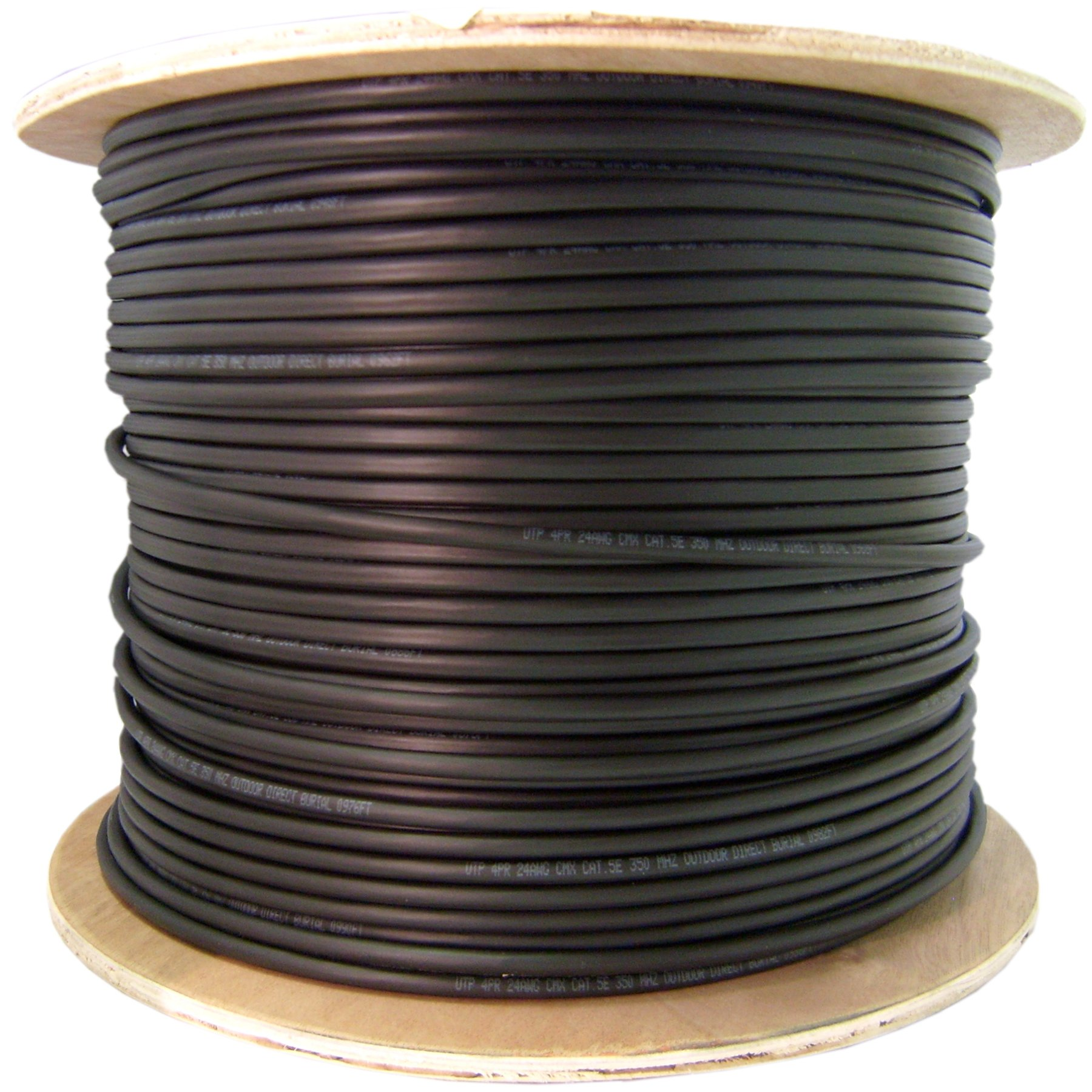 6 Fiber Indoor/Outdoor Fiber Optic Cable, Multimode 62.5/125, Plenum Rated, Black, Spool, 1000ft by CableWholesale