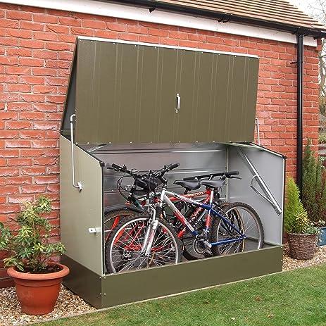 Charming Trimetals Green Outdoor Heavy Duty Steel Bicycle Storage Locker
