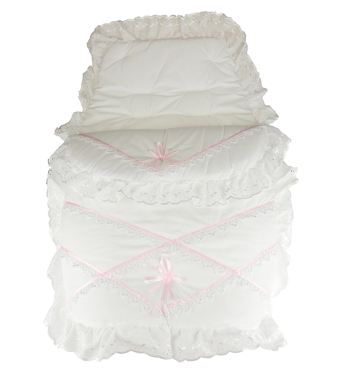 Hermoso bebé niñas niños Guipure encaje recortar Cosy Toes abrigo de invierno blanco White Pink Talla:talla única: Amazon.es: Bebé