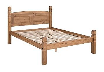 Mercers Furniture Corona 4 6 Low Foot End Bed Frame Pine Brown