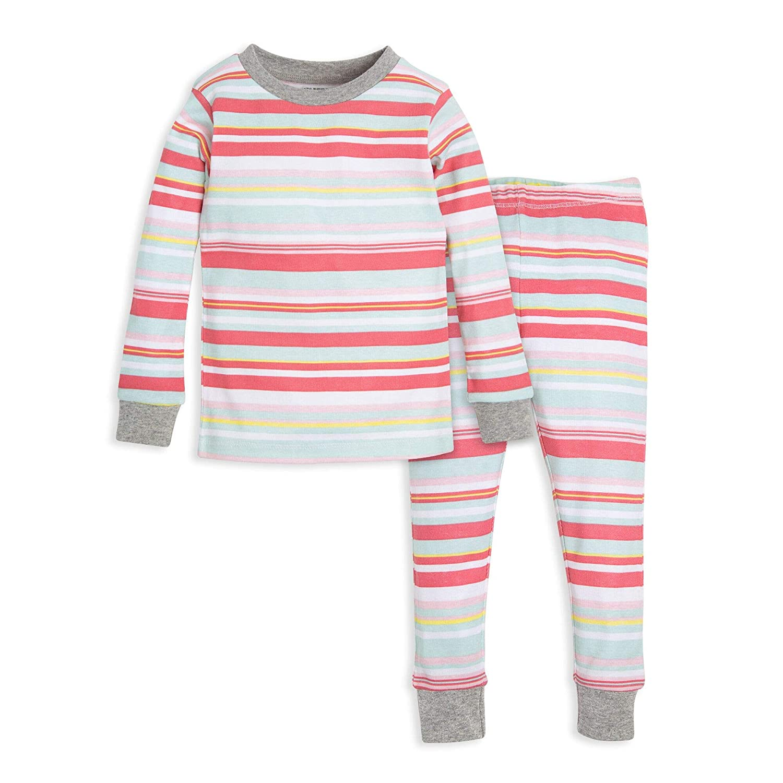 Tee and Pant 2-Piece Pj Set Burts Bees Baby Baby Girls Pajamas 100/% Organic Cotton