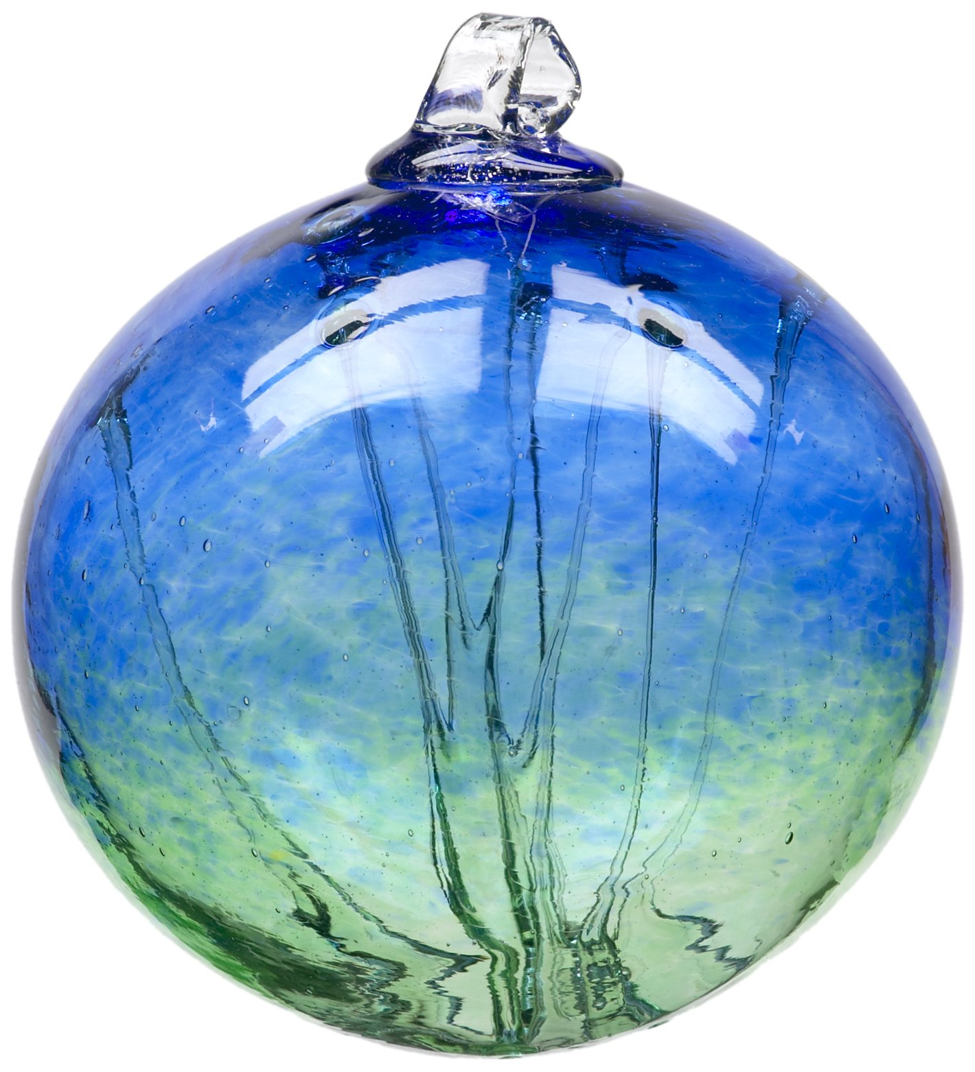 Kitras Witch Ball, Cobalt/Green