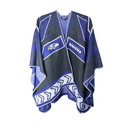 72b92861 NFL Baltimore Ravens Whipstitch Scarf Poncho, Clothing Accessories ...