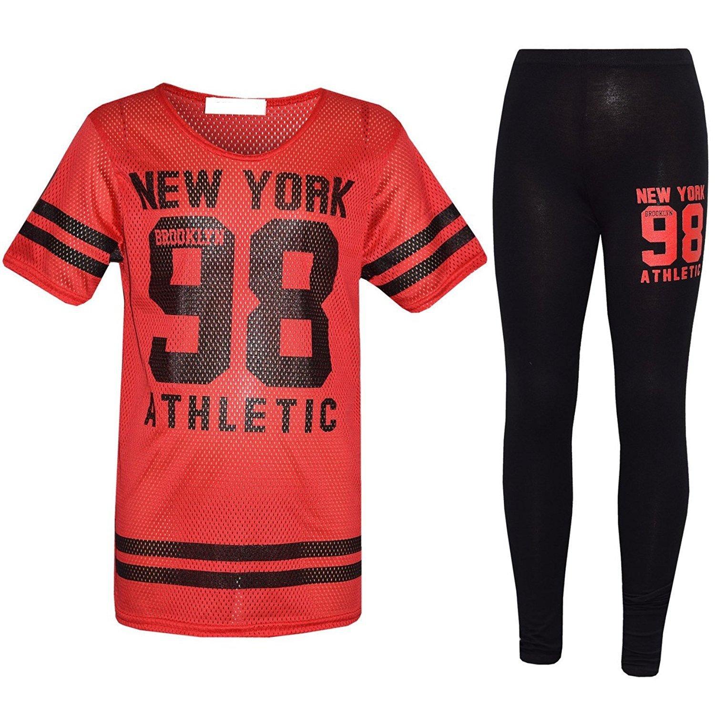 Kaaya Girl's Children's New York 98 Brooklyn Net Dot Top Leggings Bottoms