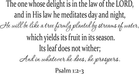 Psalm 12 3 Wall Art The One Whose Delight Is In