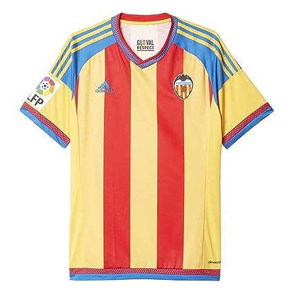 competitive price 44859 2a79d adidas Valencia Away JSY - Camiseta para Hombre, Color Amarillo Rojo Azul,