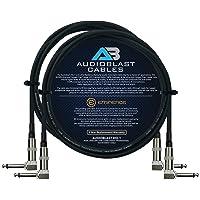 Audioblast – 2 unidades – 6 pies – HQ-1 – Ultra flexible – doble blindado (100%) – Efectos de instrumentos de guitarra…
