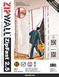 ZipWall ZF2 Panneau de barrière réutilisable ZipFast pour barrières antipoussières, 75cm
