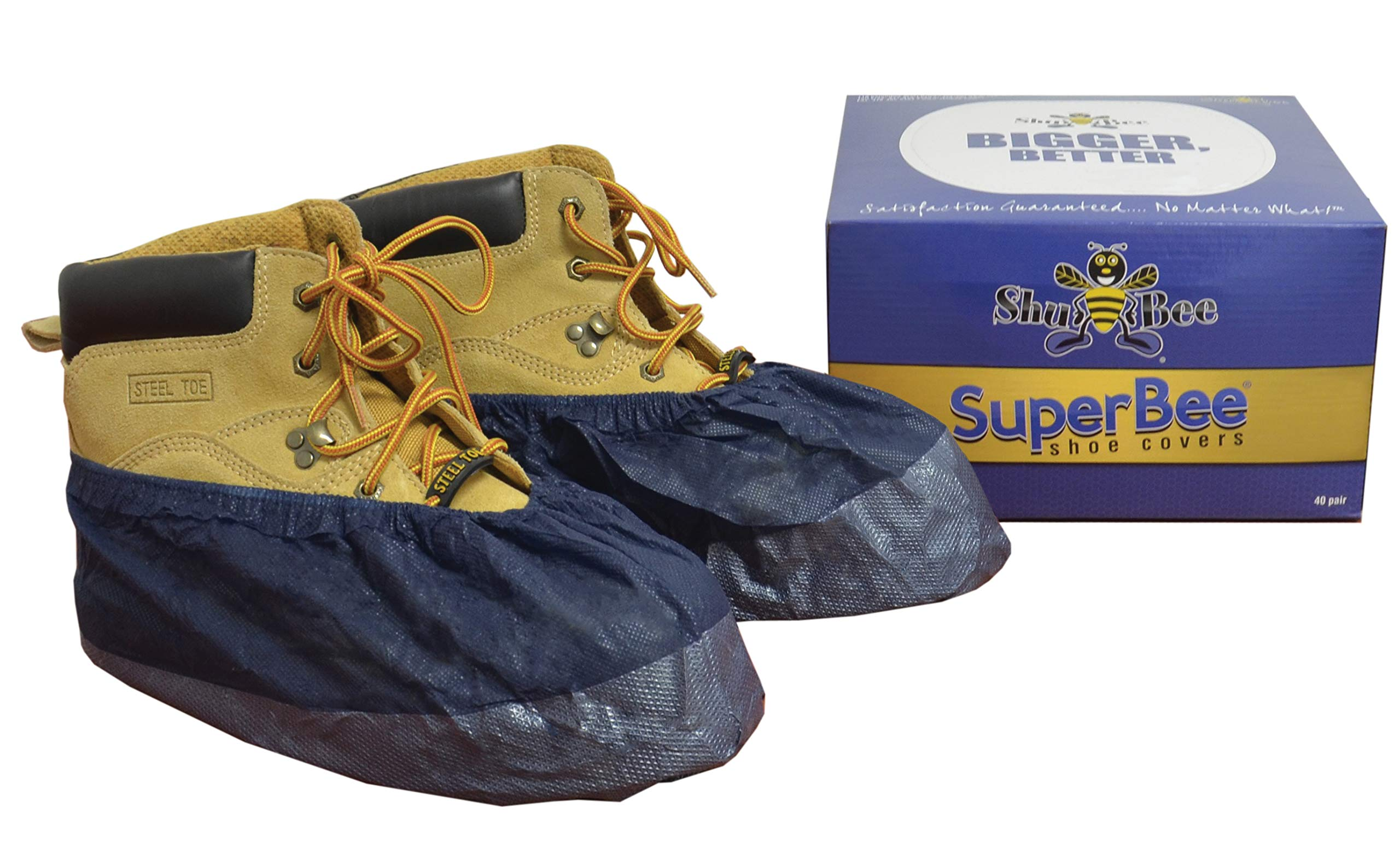 ShuBee SuperBee Shoe Covers, Midnight Blue (40 Pair)