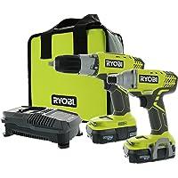 Ryobi P1832 18Volt ONE+ Drill and Impact Driver Kit