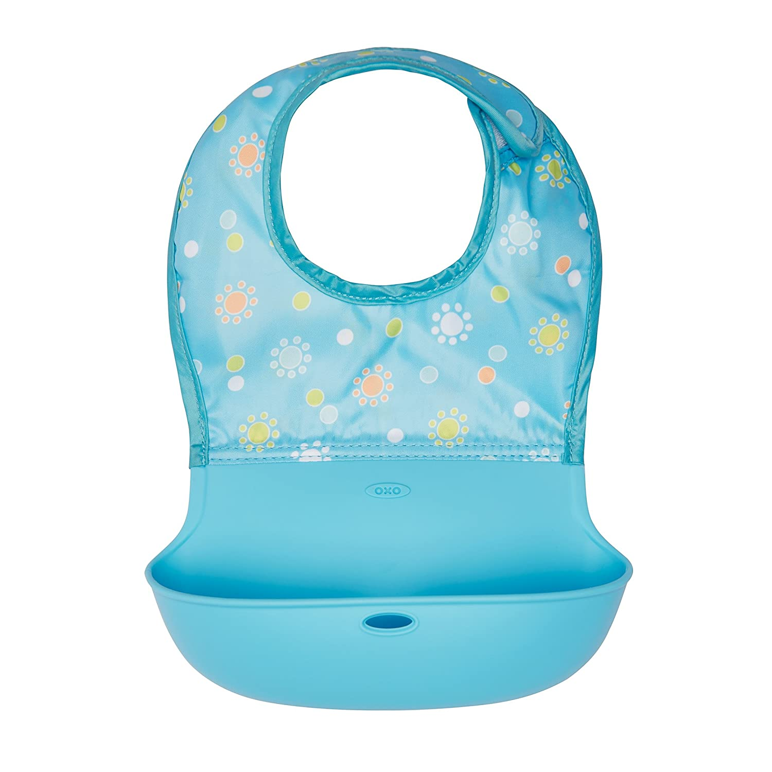 Oxo Tot Silicone Roll Up Bib with Comfort-Fit Fabric Neck, Navy 61114900