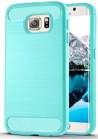 ONEFLOW Samsung Galaxy S6 Edge | Hülle Mint-Grün Shift Back-Cover TPU Silikonhülle Ultra-Slim Handy-Hülle für Samsung Galaxy