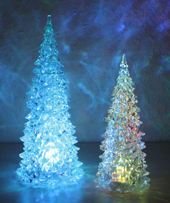 Idena LED Weihnachtsbaum aus Acryl mit Farbwechsel 23 cm ...