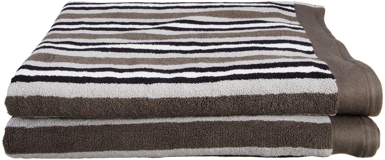 Chocolate Supeior 550STCH 6PCSET Superior Collection Luxurious Stripes 100/% Premium Combed Cotton 6-Piece Towel Set