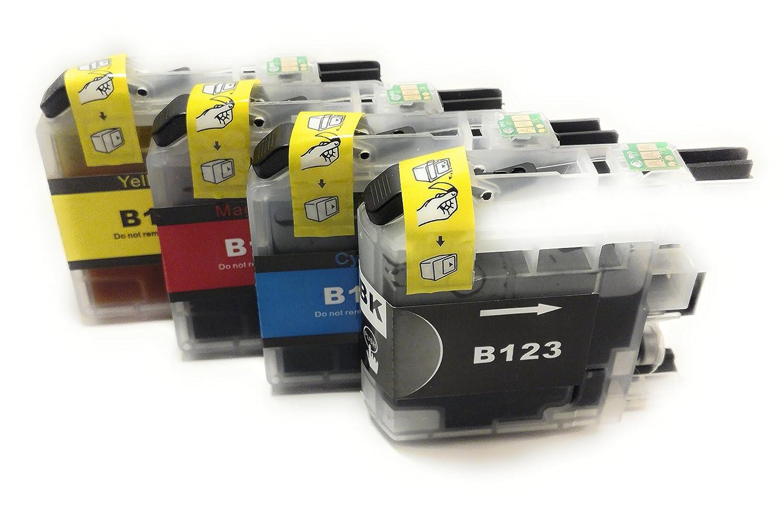 4 cartuchos compatibles Brother LC123 XL para impresora DCP-J 132 ...