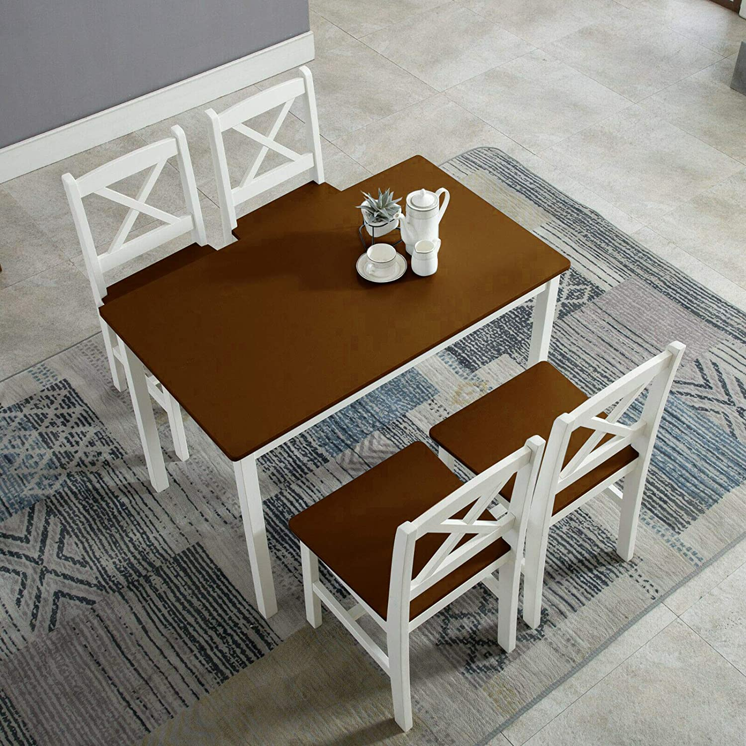 Office Dining Table And chairs set 4 Wooden Dining Table /& Chairs Living Room Dinning Furniture Tables Rectangular Dinner Table Furniture Set for Home Kitchen Modern Design For Dining Room