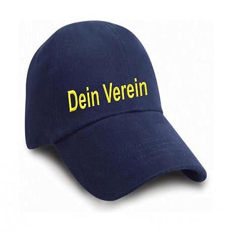 Gorra de béisbol bordada con el nombre de tu del Club, negro ...