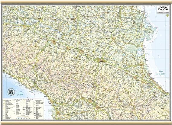 Cartina Topografica Emilia Romagna.Emilia Romagna Carta Regionale Murale 97x70 Cm Belletti Amazon It Cancelleria E Prodotti Per Ufficio