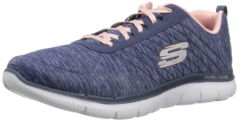 Amazon.com | Skechers Flex Appeal 2.0 Laser Show Womens Fashion Sneakers, Navy, 8.5 US | Oxfords