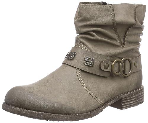 Rieker - Botines de caño bajo de Material sintético Mujer: Amazon.es: Zapatos y complementos