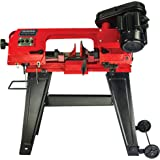 """GENERAL INTERNATIONAL 4.5"""" Metal Cutting Bandsaw - 5A Horizontal or Vertical Band Saw with Cast Iron Steel Frame & 3 Cutting"""