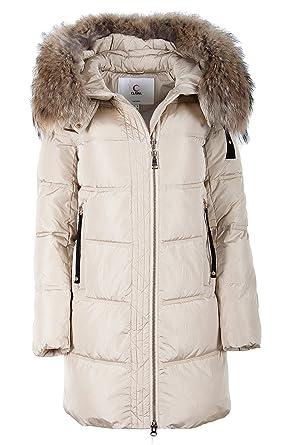 the best attitude b56e2 ad561 Grimada 017CH Damen Winterjacke Mantel in Daunen-Optik CLASNA mit  Echtfellkapuze (Länge ca.82cm)