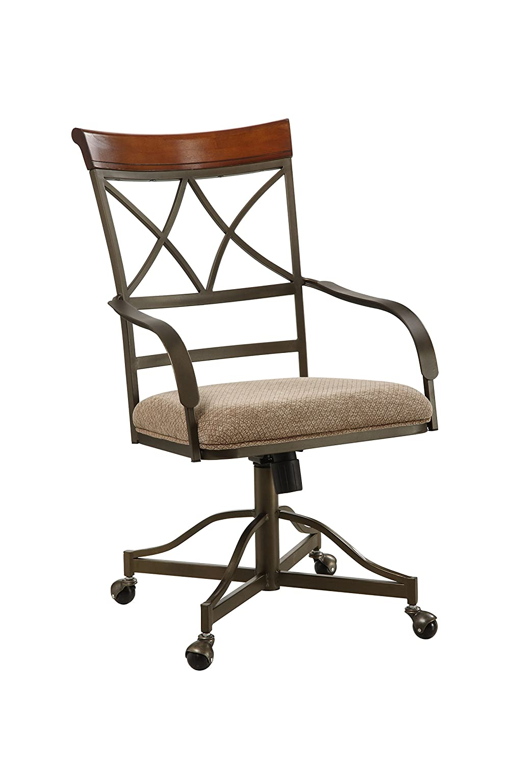 Amazon.com   Powell Hamilton Swivel Tilt Dining Chair On Casters   Chairs