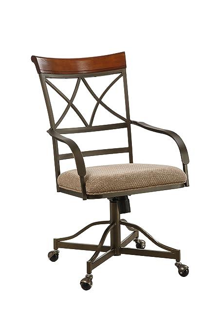 Powell Hamilton Swivel Tilt Dining Chair On Casters