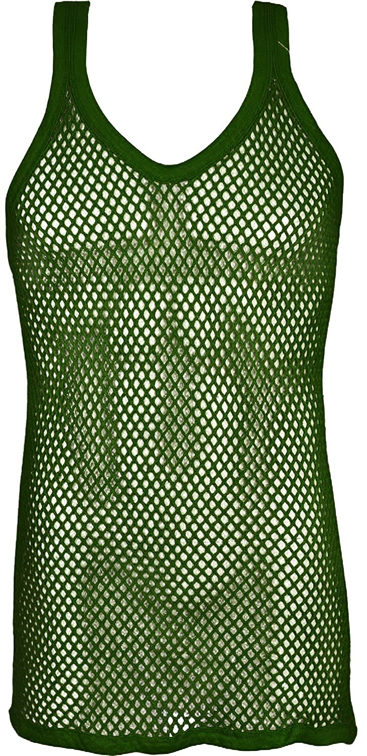 Mens String Vests Pure Cotton Sleeveless vest Top